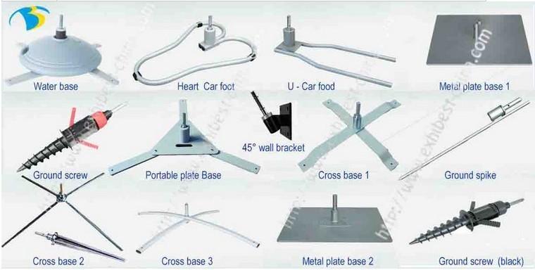 Vente chaude À base D'eau pour la Plage Drapeau Rempli D'eau Base du Poteau pour Voler Bannière Pôle