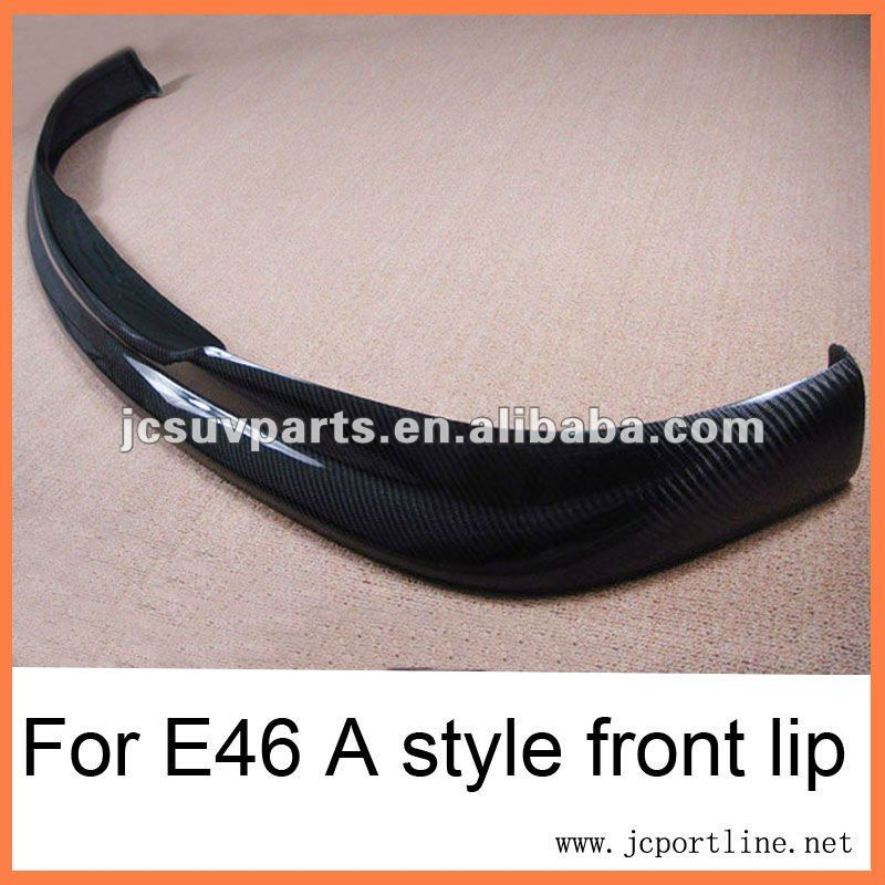 E46 M3 A style carbon fiber front bumper lip for BMW