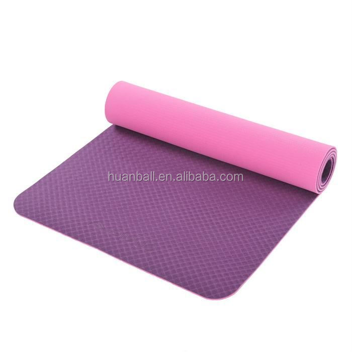 "Factory Supply Pilates TPE Yoga Mat 6MM With Strap Carrier W 24""XL68'"