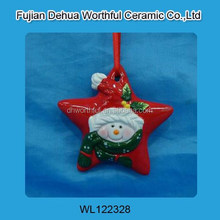 Christmas hanging decoration with snowman design