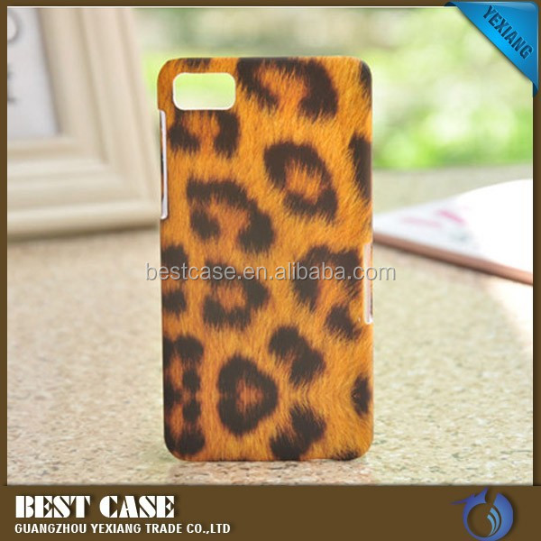 Fashion leopard grain design protective case for blackberry z10 hard back cover
