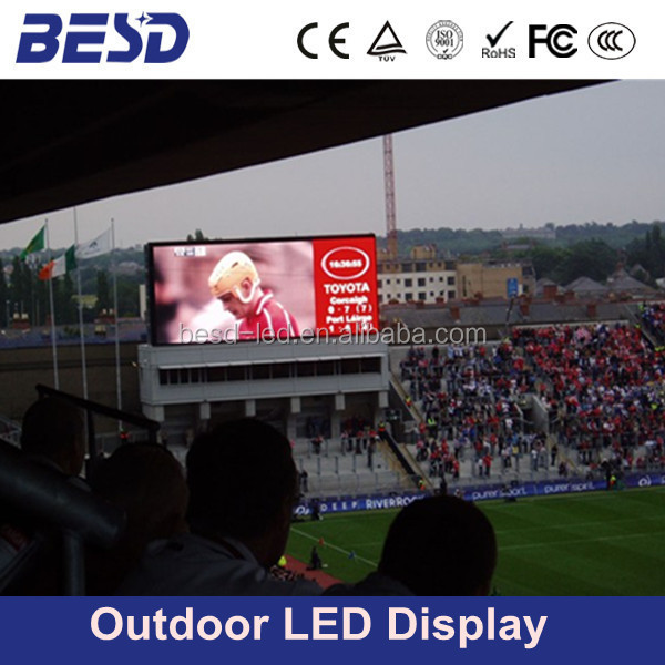 UFA football stadium <strong>led</strong> <strong>display</strong>,outdoor large media <strong>led</strong> billboard,P10 stadium <strong>led</strong>