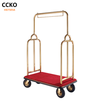 Hotel Luggage Trolley/ Luggage Cart/ Titanium Luggage Hand Trolley