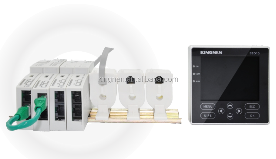 Newest din rail digital power meter with tcp ethernet rs485 modbus EngyBrick multi-circuit measurement