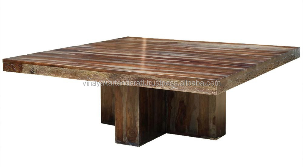 Hot selling Vintage Wooden Carved Dining Table, Popular New design Carving Panel Fine Finish Dining Table