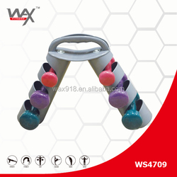 exercise fitness aerobed vinyl adjustable weight dumbbell sets with rack