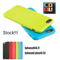 Fully Protective Cell Phone Case Colorful Soft Silicone Material Covers Ultra Thin Phone Case for iPhone6s 6s plus