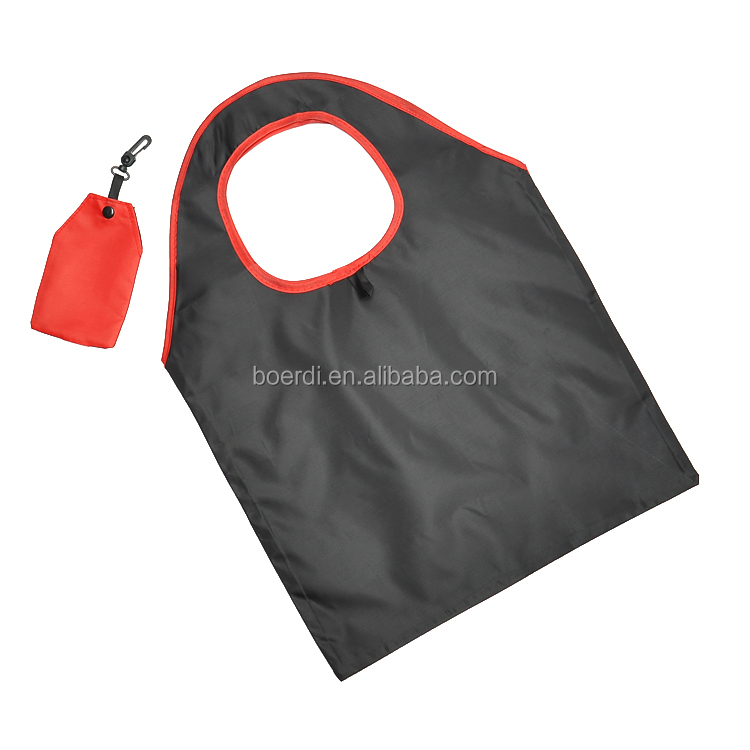 RPET foldable shopping bag with two handles