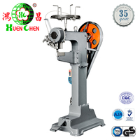 Semiautomatic foot step luggage wire stapling stitching machine