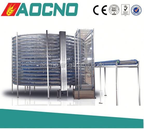 AOCNO spiral cooler choco pie production line food cooler