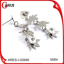Earring supplies maple leaf earring fashion long earrings for girls