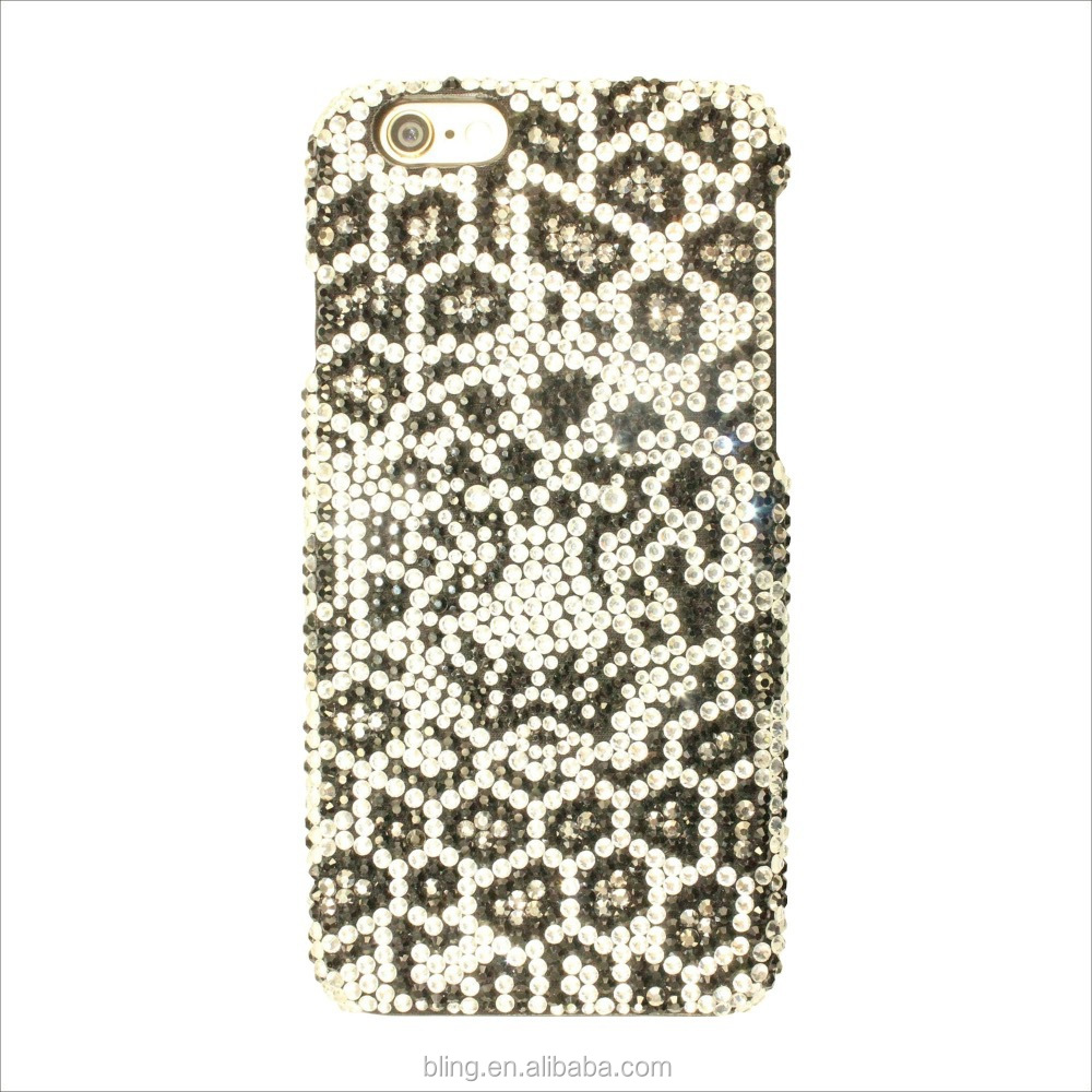 Animal tiger head design diamond phone case for iphone 6