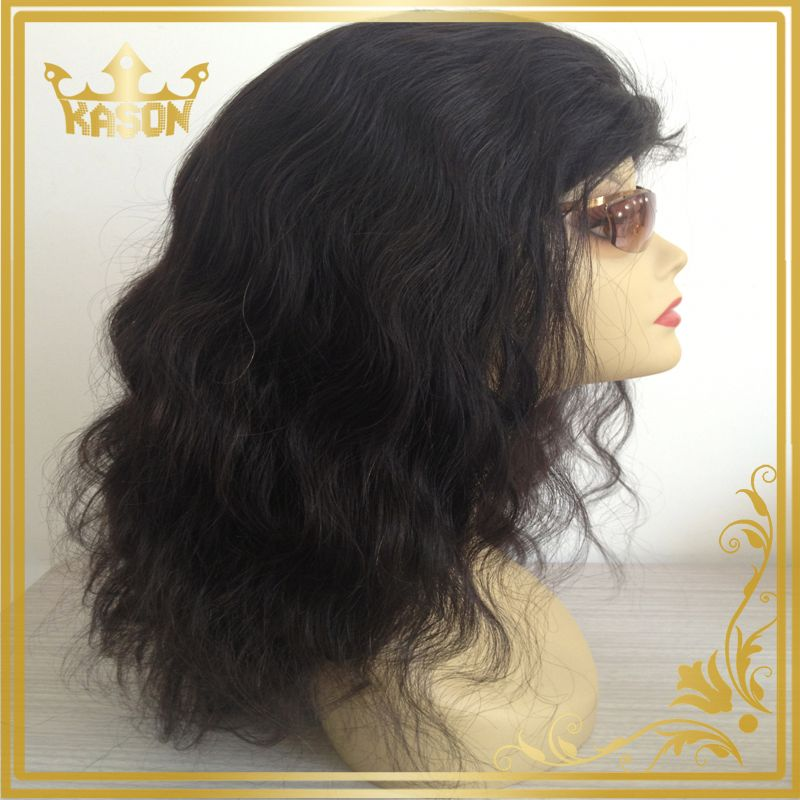 5a beauty virgin brazilian hair full lace wig with baby hair