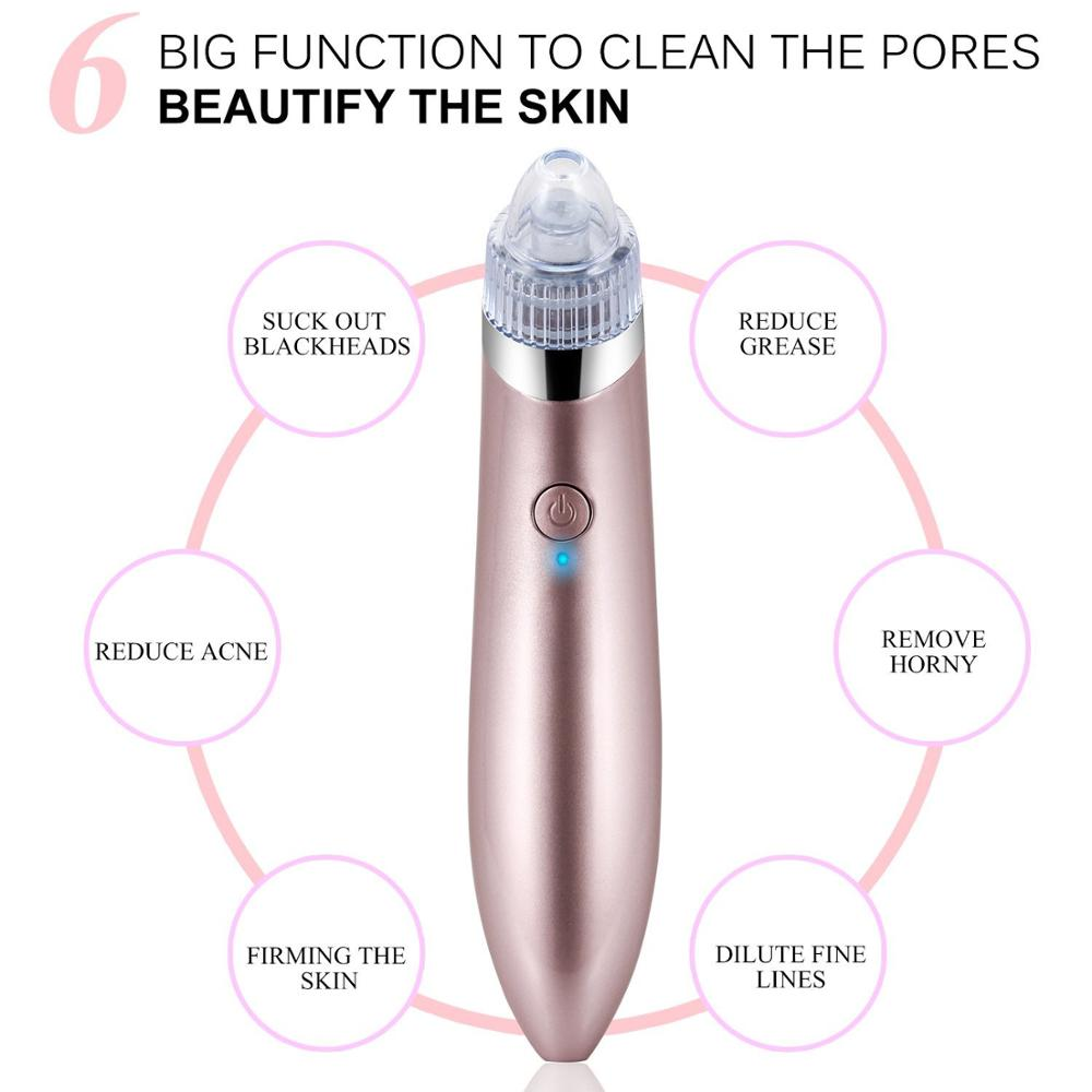Professional Portable USB Nose automatic electric private label blackhead suction device vacuum blackhead remover tool kit