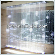 White residential fiber optic lighting , PMMA plastic optical fiber , plastic chandeliers & pendant light