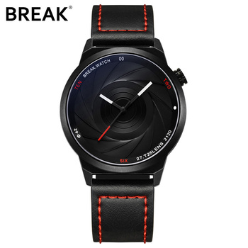 WJ-7657-3 Wholesales Business Quartz Handwatches Fashion Leather Wrist Watches BREAK Brand Men Watches BR03-T25