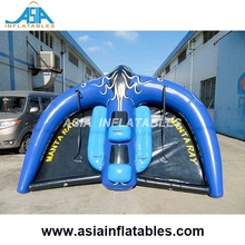 Outdoor Sea Flying Manta Ray Rider , Inflatable Towable Ski Tubes For Water Sports