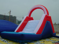 New cheap big hippo inflatable water slide with pool
