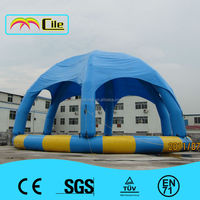 High quality Inflatable Pool with Top Cover Roof for Different Water Games