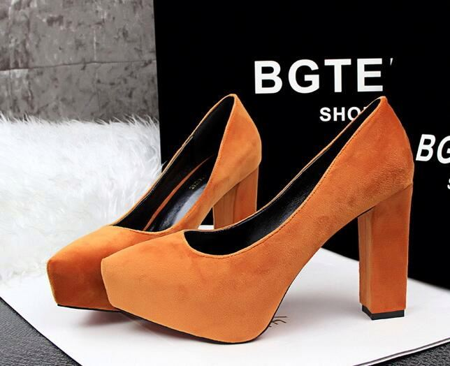 Wholesale plantform ladies safety high heel shoes