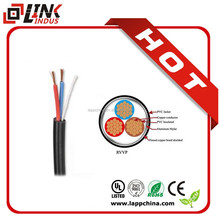 Bare copper wire electrical cable with ground wire flat or round shape easy install electric wire