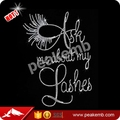 Beautiful ask me about my lashes iron on transfers wholesale for t-shirt