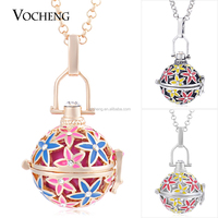 10pcs/lot Wholesale Vocheng Hand Painted Inlaid Crystal vocheng Angel Bola Necklace Star Pendant Jewelry VA-212*10 Free Shipping