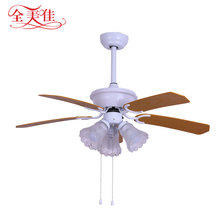 "New 52"" big decorative LED light white ceiling fan with remote control"