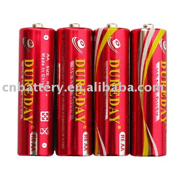 aa size (R6 UM-3) Carbon Zinc pvc and foil jacket Battery