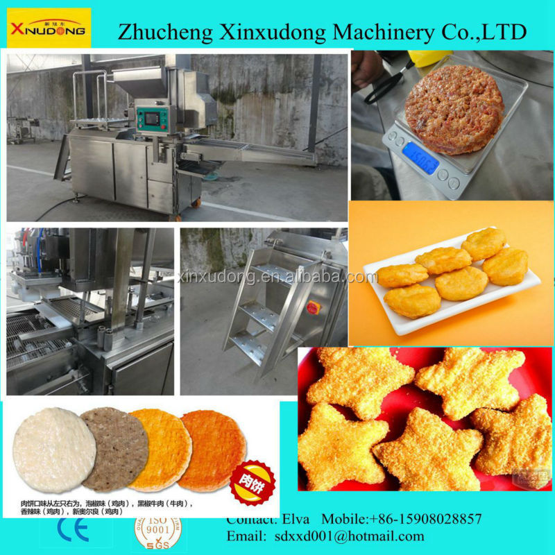 automatic KFC burger meat patty making machine