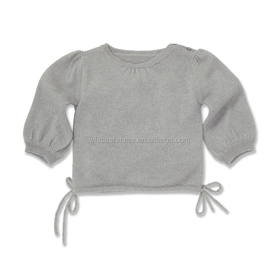 grey cozy fashion baby style knitted pattern cashmere blended sweater baby