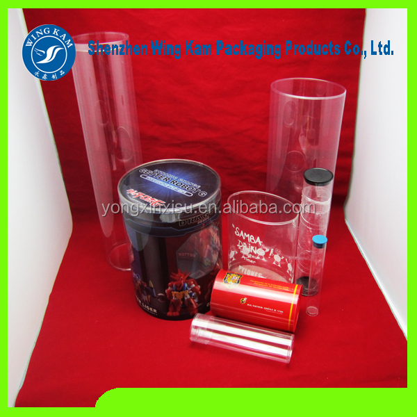 unique European town field golf instruction tube pack bright clear plastic cylinder made in china