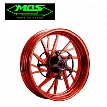 [MOS] Forged Rim Wheel TF-10 (Pair) (Red) For Yamaha T-MAX / TMAX 530 with ABS (2012-2016)
