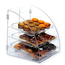 China factory direct wholesale clear acrylic bread storage box with lid for retail