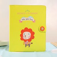 for Apple ipad mini luxury PU leather flip case korea style cute cartoon animals case