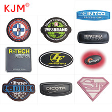 Eco-friendly custom size logo clothing Jeans Luggage backpack Rubber Decorate Patch 3D soft rubber pvc label