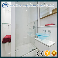 12mm tempered glass for Shower glass Door