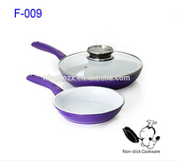 Famous brand modern kitchenware forged purple aluminum nonstick ceramic fry pan cookware