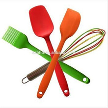 4 pcs Nonstick Silicone Spatula Setbrush,Spoonula,spatula,egg whisk,Kitchen Rubber Spatulas with Stainless Steel Core