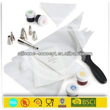 silicone suitable for food contact non stick silicone cream pastry piping bags