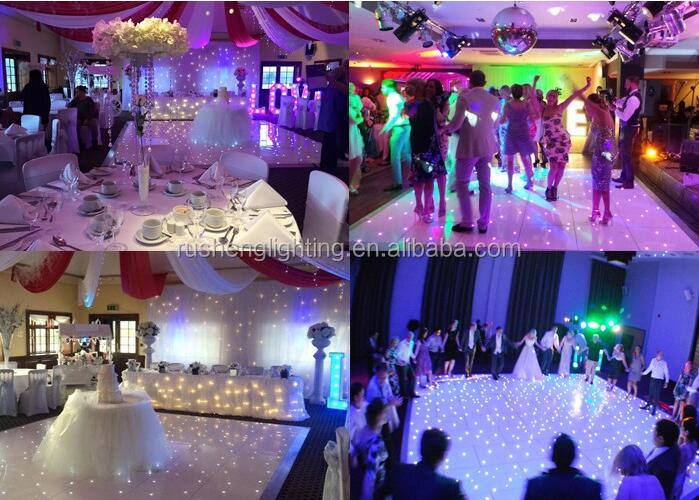 6kg light weight scratchproof 20ft*20ft white and black dance floor tiles for 100 guests