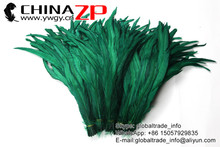 Leading Supplier ZPDECOR Selected Prime Quality Green Fully Dyed Roosters Chicken Feathers for Sale