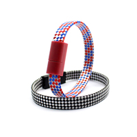 2016 Mobile phone accessories factory OD10 21AWG Nylon Braided + PVC Bracelet Wristband USB Cable for Android for iphone