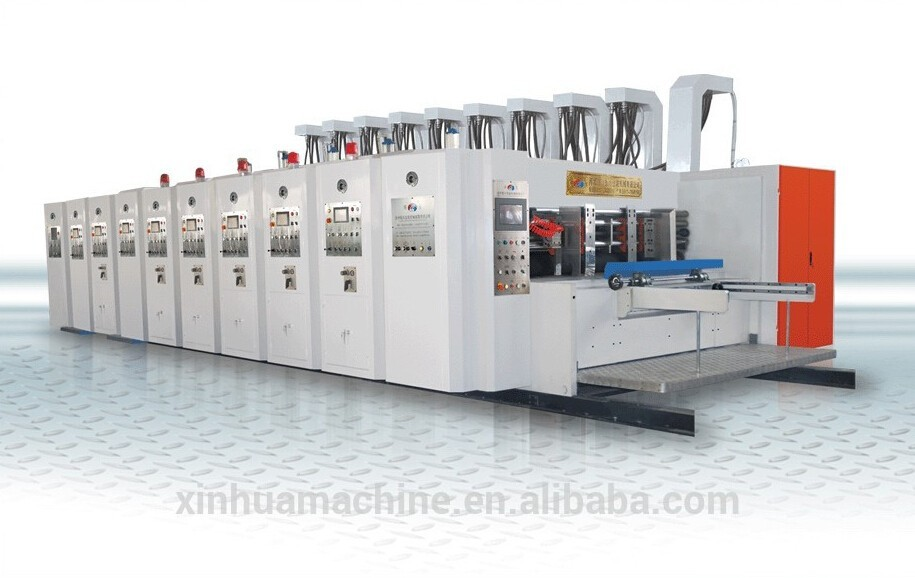 carton making machine printing 4 blade Die-cutting combined