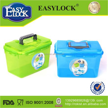 Eco-friendly big plastic storage box with handle