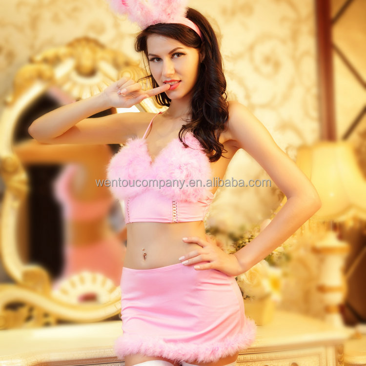 Wholesale Womens Adult Sexy Cute Rabbit Halloween Party Cosplay Bunny Costume
