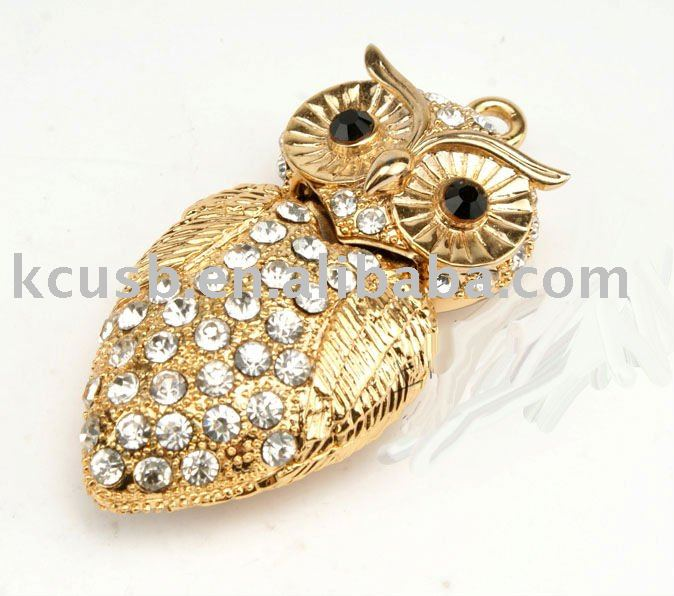 Jewelry owl USB Flash Drive/crystal USB memory stick