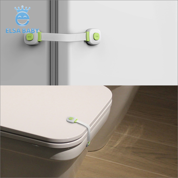 Multi-function plastic baby safety lock prevents child opening drawer cupboard or fridge, toilet lid