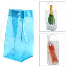 Cheap promotional customized PVC plastic Wine Champagne Bottle ice beer Cooler Bag
