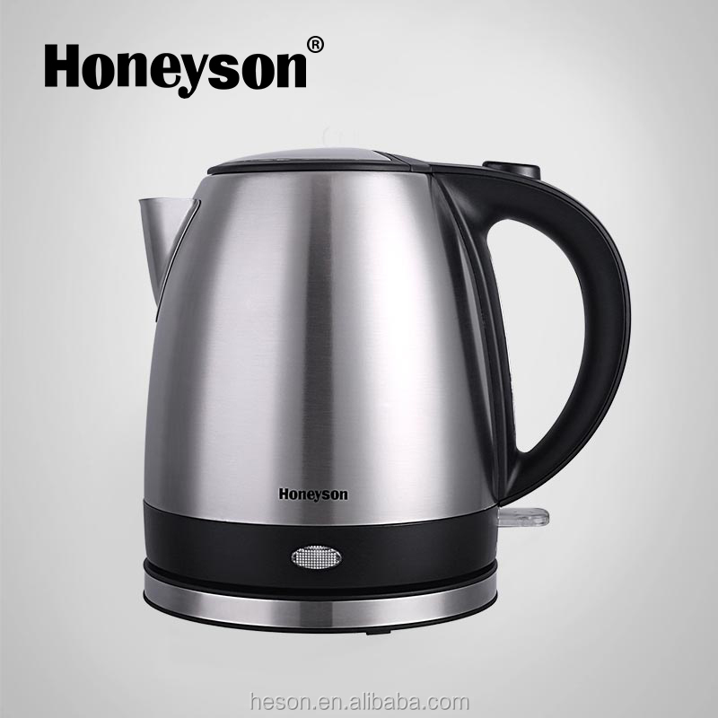 Honeyson new hotel suppliers electric cordless metal tea kettle teapot